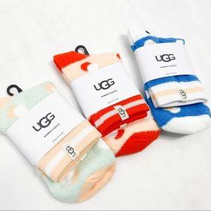 UGG 3 peice Gretchen Quarter Dot Socks